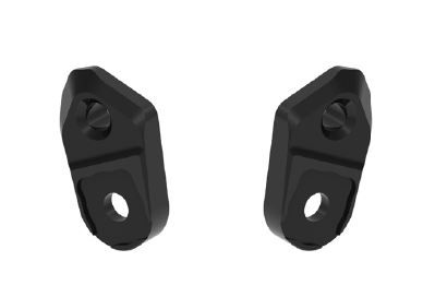 LighTech Universal Footpeg Plates (Pair) - Lower Rise